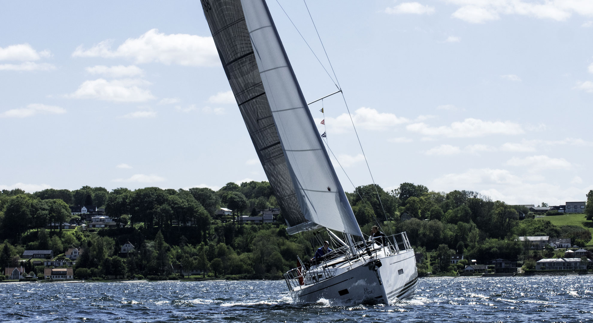 New sail - wing jib - for heavier winds