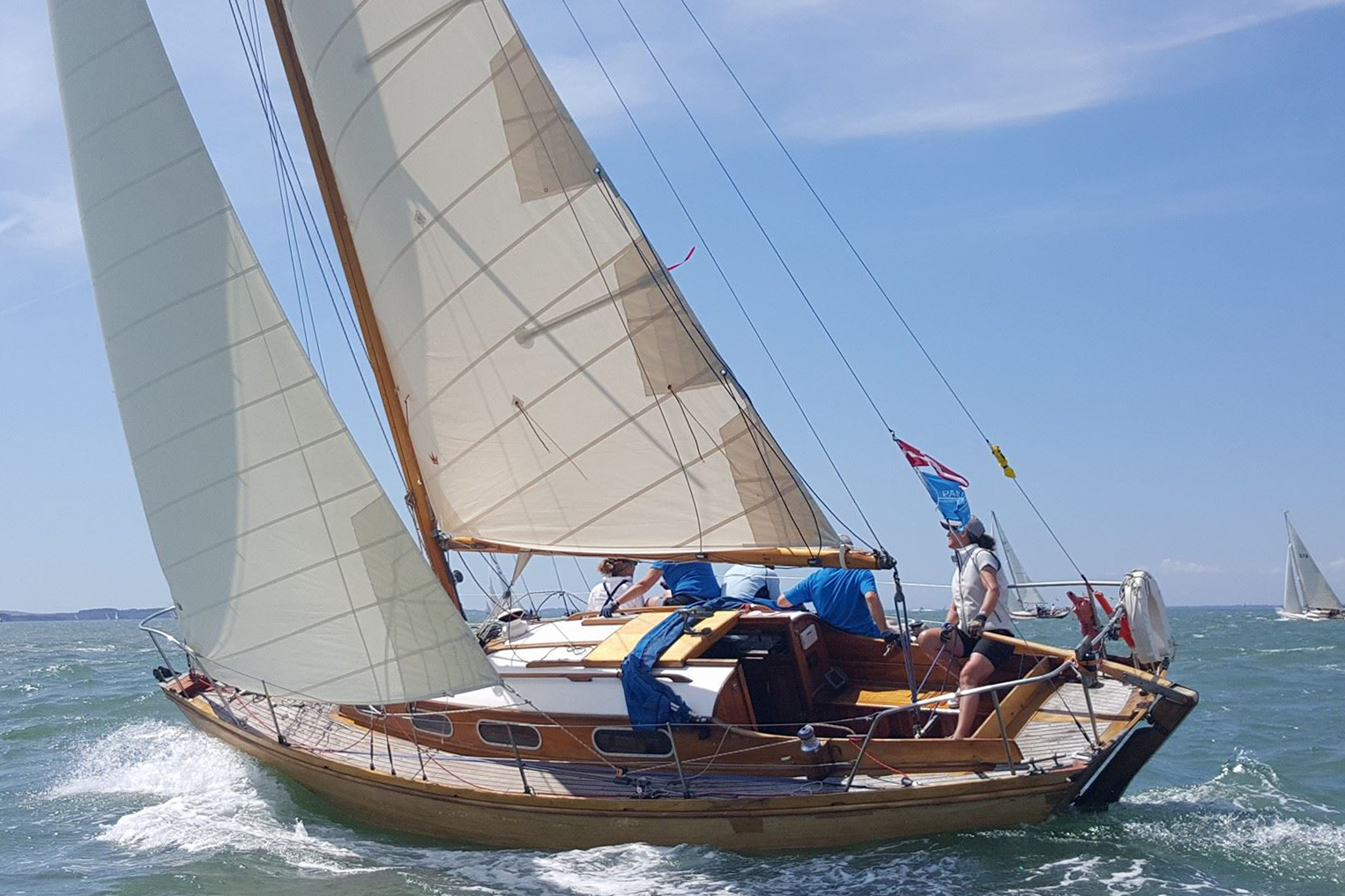 Ragdoll with Elvstrom Sails - Credit Fiona Brown